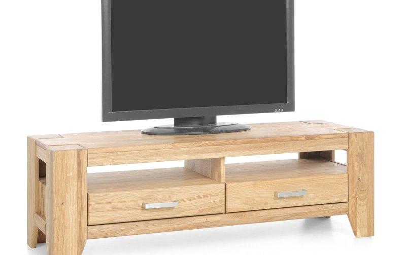 TV komoda z masivu LOFT přírodní dub typ 18