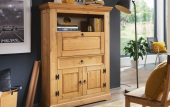 Sekretář ve venkovském stylu ARRE borovice masiv/barva dub