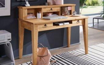 Pracovní stůl ve venkovském stylu ARRE borovice masiv/barva dub