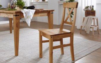 Jídelní židle ARRE borovice masiv/barva dub
