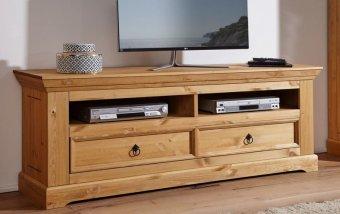 Televizní komoda ve venkovském stylu ARRE II borovice masiv/barva dub