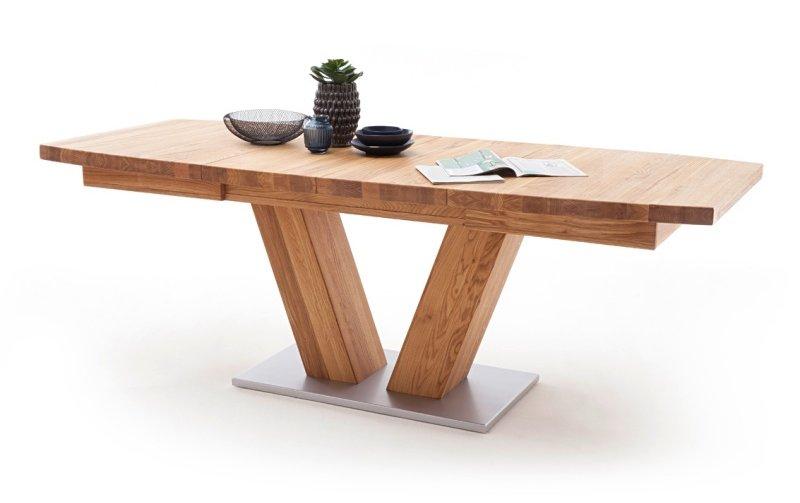 Rozkládací jídelní stůl z masivu MANAGUA B dub divoký