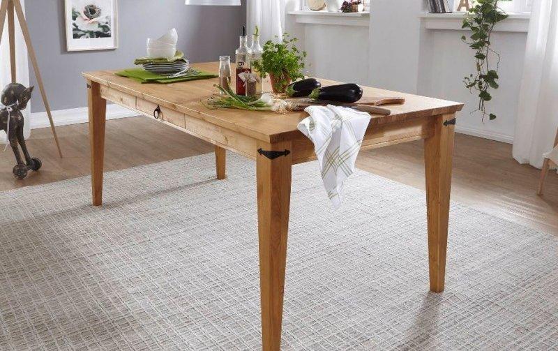 Jídelní stůl ve venkovském stylu ARRE borovice masiv/barva dub