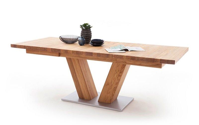 Rozkládací jídelní stůl z masivu MANAGUA A dub divoký