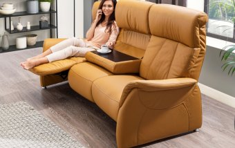 Luxusní kožená pohovka s funkcí relax MAGIC RELAXX