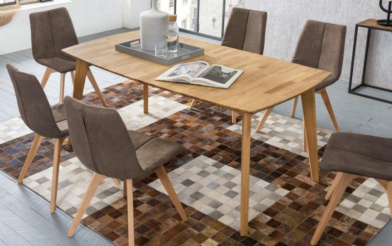 Rozkládací jídelní stůl z masivu JANNIS dub divoký