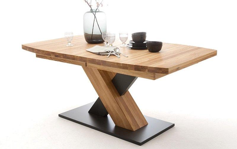 Rozkládací jídelní stůl z masivu MENDOZA B dub divoký