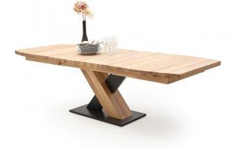 Rozkládací jídelní stůl z masivu MENDOZA B dub bělený
