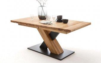 Rozkládací jídelní stůl z masivu MENDOZA A dub divoký