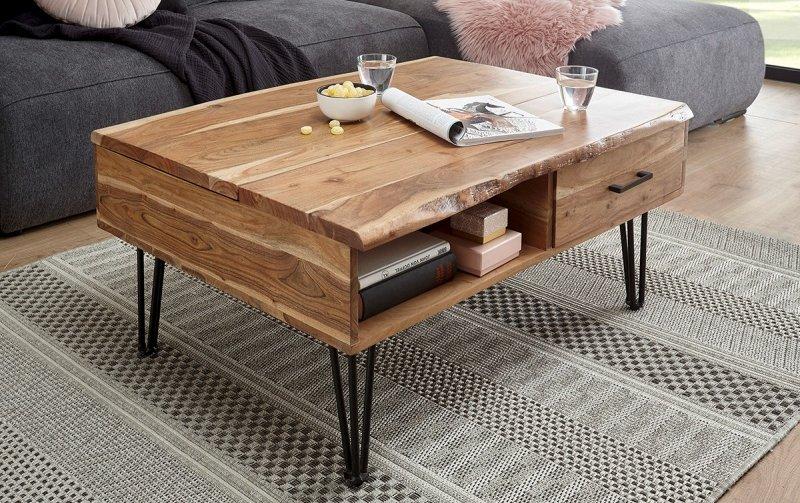 Konferenční stolek z masivu MUSTIQUE akátové dřevo