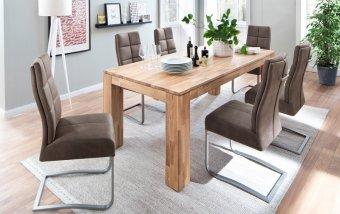 Jídelní set pro 6 osob - stůl NANTES + židle SALVA 2