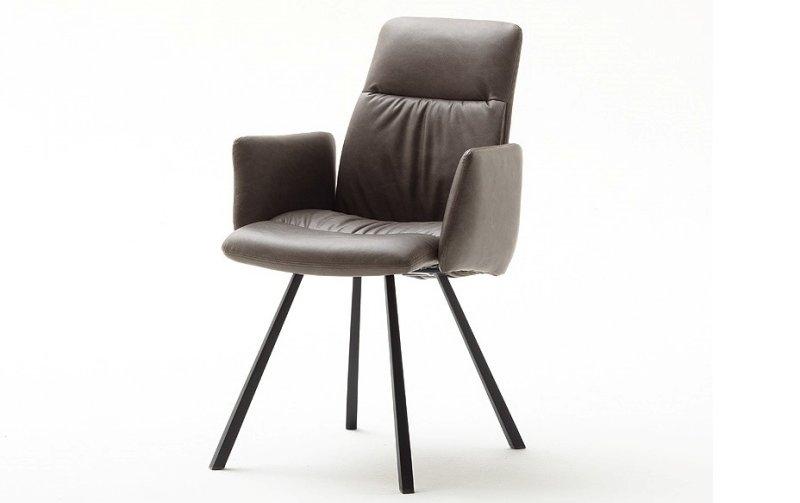 Židle jídelní OXFORD s područkami ekokůže cappuccino