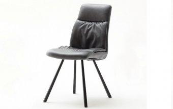 Židle jídelní OXFORD ekokůže šedá