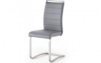 VÝPRODEJ: Jídelní židle PESCARA ekokůže šedá