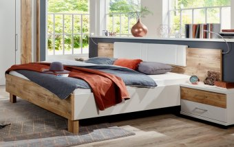 Moderní postel z lamina DENVER champagne/dub