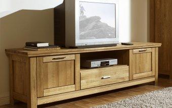 Dubový televizní stolek - PORTO/PUERTO (typ 25)