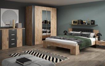 Moderní ložnice RIMA dub Ribbec/černá