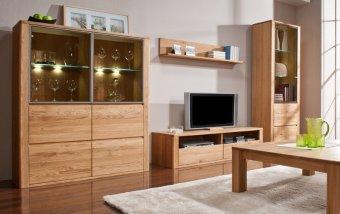 Dubový nábytek z masivu do obývacího pokoje a jídelny - ORLANDO/ROLANDO dub natura