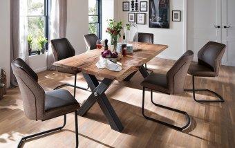 Jídelní set pro 6 osob - stůl SAMARA + židle ABERDEEN