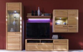Nábytek do obývacího pokoje XENA II buk masiv olejovaný