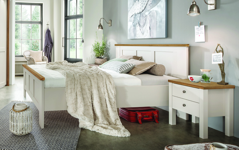 Moderní postel z lamina SLOANE champagne/dub