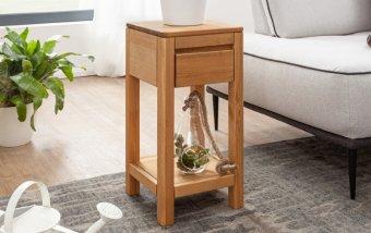 Stůl na květiny I ROGER borovice masiv/barva dub medový