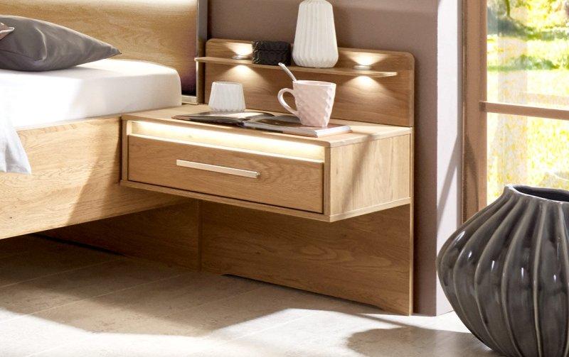 Noční stolek PALERMO dub-částečný masiv