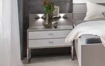 Noční stolek VIGO šedá/alpská bílá