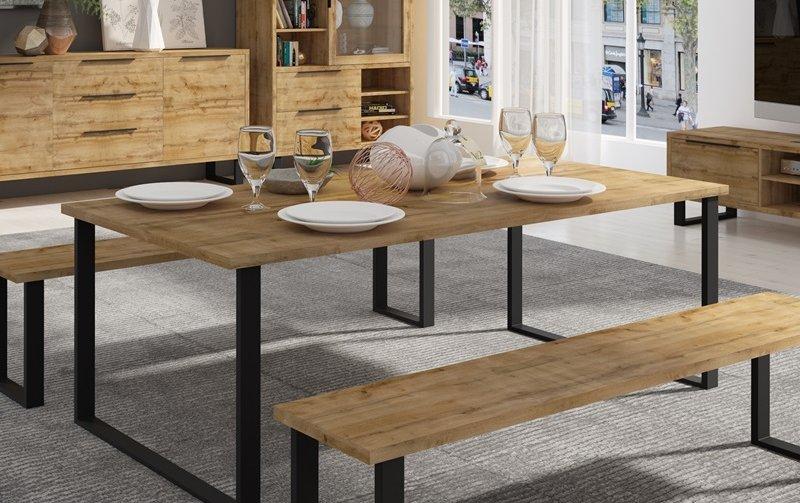 Jídelní stůl HALLE dub wotan