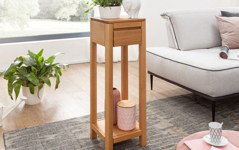 Stůl na květiny II ROGER borovice masiv/barva dub medový