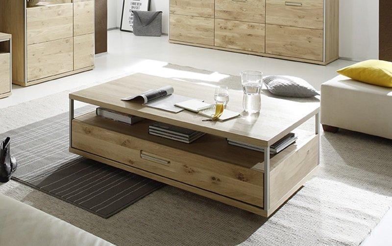 Konferenční stolek ESPERO dub sukatý bělený