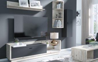 Moderní obývací stěna TALINA borovice/antracit