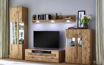 Nábytek do obývacího pokoje ERAMO dub sukatý bělený