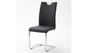 Židle jídelní TIA ekokůže antracit