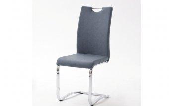 Židle jídelní TIA ekokůže šedomodrá