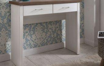 Toaletní stolek LUGANO bílá borovice/hnědá