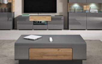 Konferenční stolek TOLEDO dub Grandson/šedý lesk