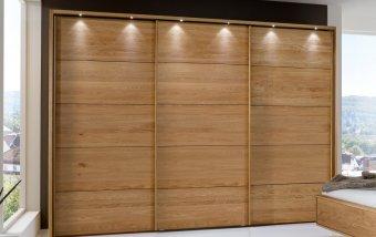 Šatní skříň s posuvnými dveřmi a osvětlením TOLEDO dub