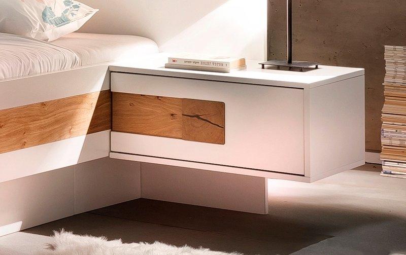Noční stolek EOS bílý lak/dub olejovaný