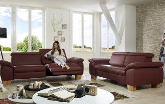 Kožená sedací souprava URBINO s funkcí relax 3+2,5