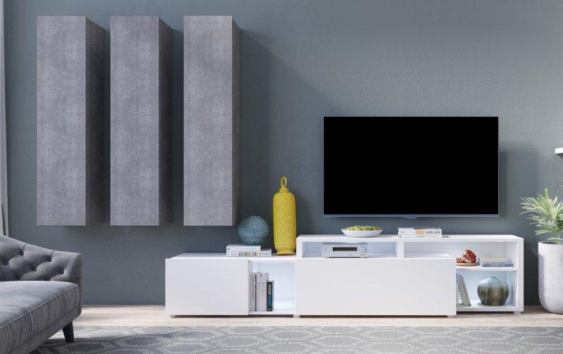 Moderní obývací stěna VENTO (typ 10) beton colorado