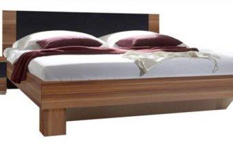 Manželská postel s nočními stolky Vera occ - ořech-černá