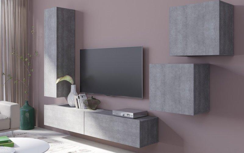Moderní obývací stěna VENTO (typ 11) beton colorado