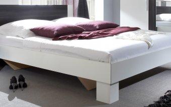 Manželská postel s nočními stolky Vera boc - bílá-černý ořech 180x200