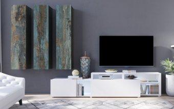 Moderní obývací stěna VENTO (typ 10) dekor Canyon