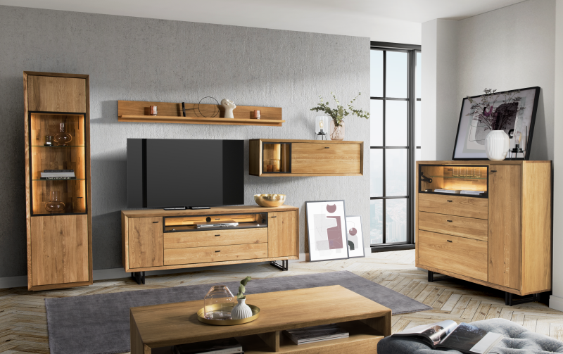 Dubový nábytek do obývacího pokoje 3 VIGO