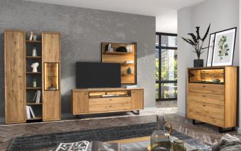 Dubový nábytek do obývacího pokoje VIGO