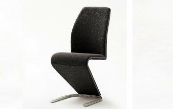 Moderní jídelní židle VIRGINIA černá