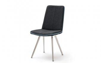 Židle jídelní GILBERT 4 ekokůže antracit